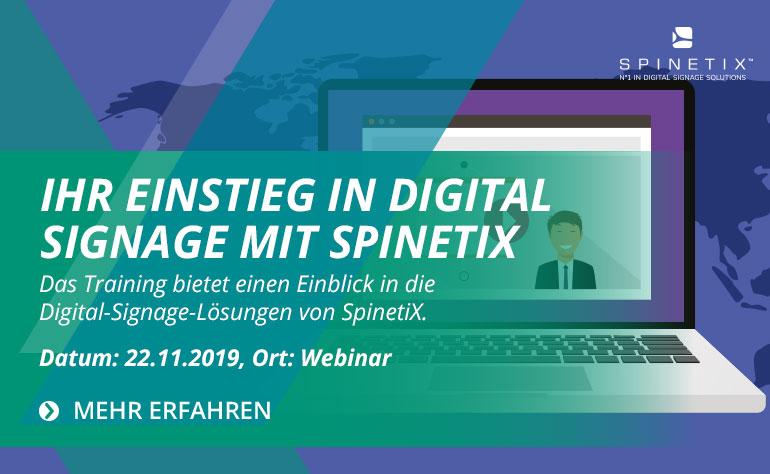 Ihr Einstieg in Digital Signage mit SpinetiX