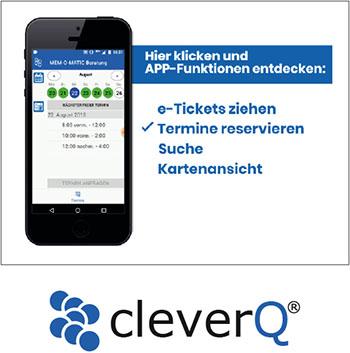 CleverQ Warteschlangenmanagement bei VIDEOR