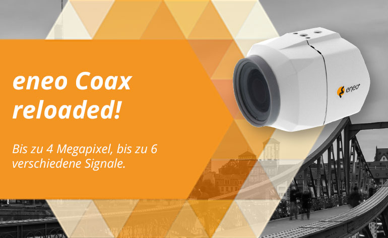 eneo COAXIZE: Analoge HD-Videoüberwachung