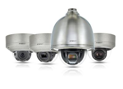 Hanwha Techwin Wisenet-Kameras Stainless Steel