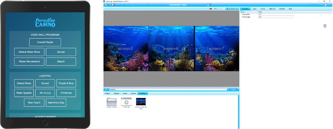 iPad Programmauswahl und Elementi-Software