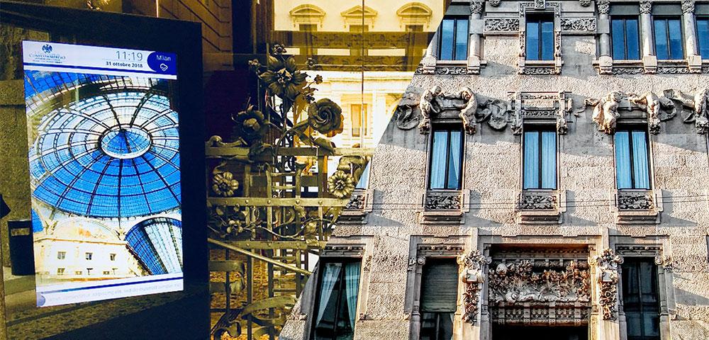 SpinetiX im Palazzo Castiglioni: Jugendstil trifft auf Digital Signage
