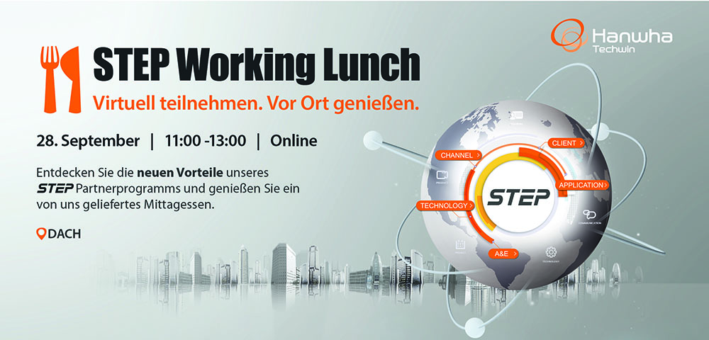 Hanwha Techwin STEP Working Lunch