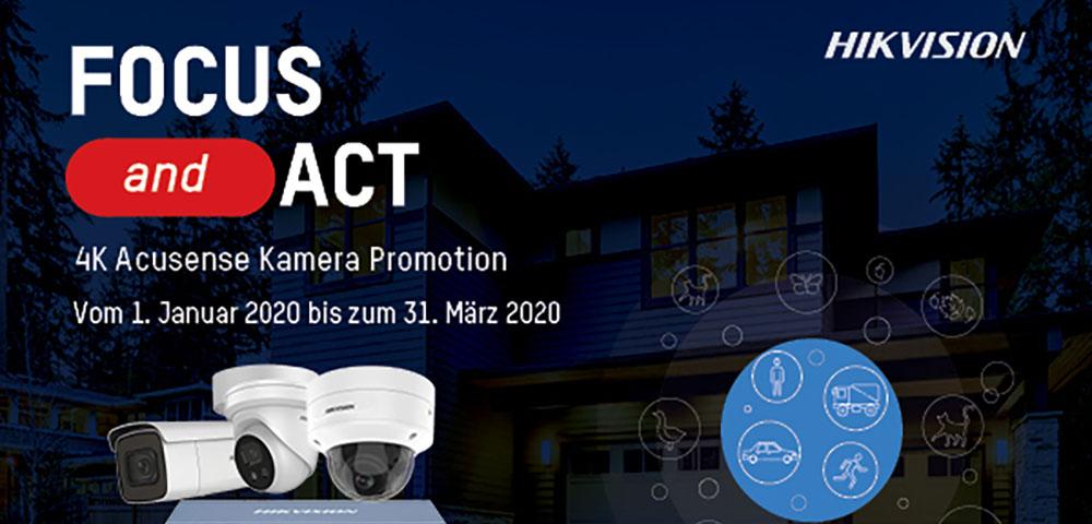 Bis 31. März 2020 4K AcuSense-Kameras kaufen und PoE-Switch gratis erhalten