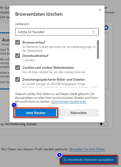 newEdge_Browserdaten_loeschen